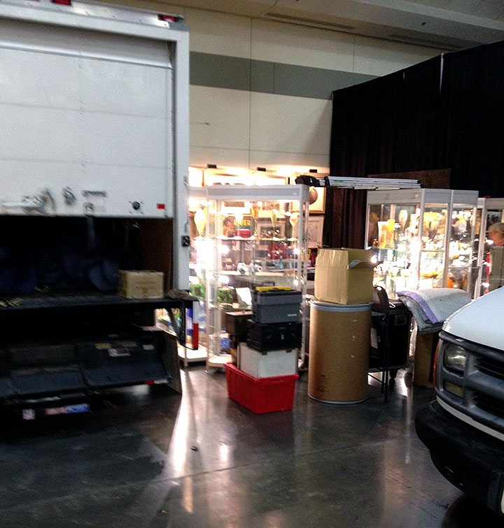 We can drive right up to our booths in Baltimore