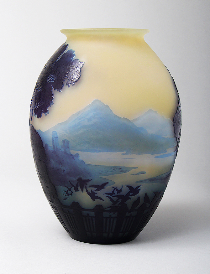 We'll have this important Gallé Lake Como vase at the show