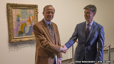 Museum Chairman Halvor Stenstadvold (left) and  Christopher Marinello made the announcement in Norway