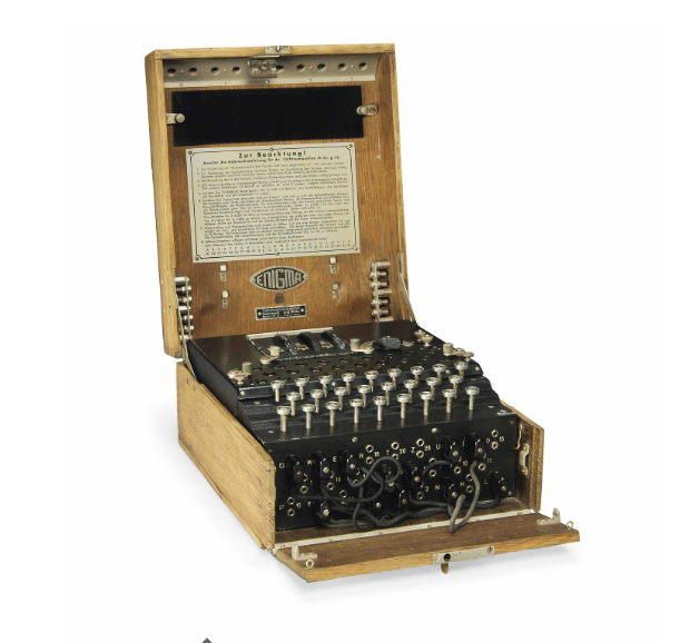 German WWII Enigma encrypting machine, Christie's lot #25
