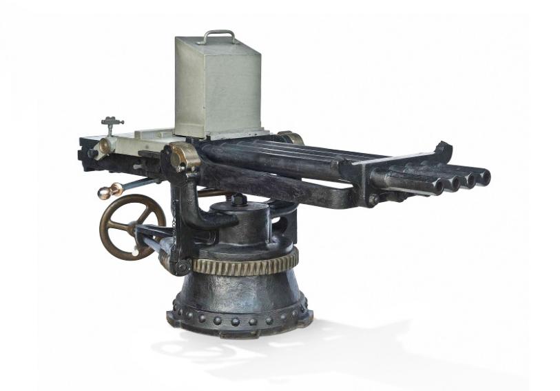 Royal Navy machine gun, 1880-5, Christie's lot #147