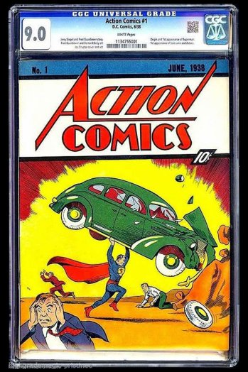 Action Comics #1, sealed in plastic