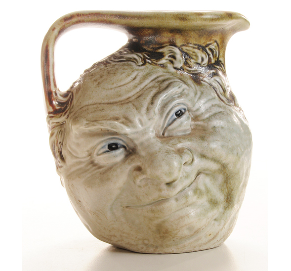 We'll have this wonderful Martin Brothers double-face jug at the show