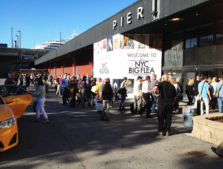 There was a good crowd inside and outside just before opening on Saturday