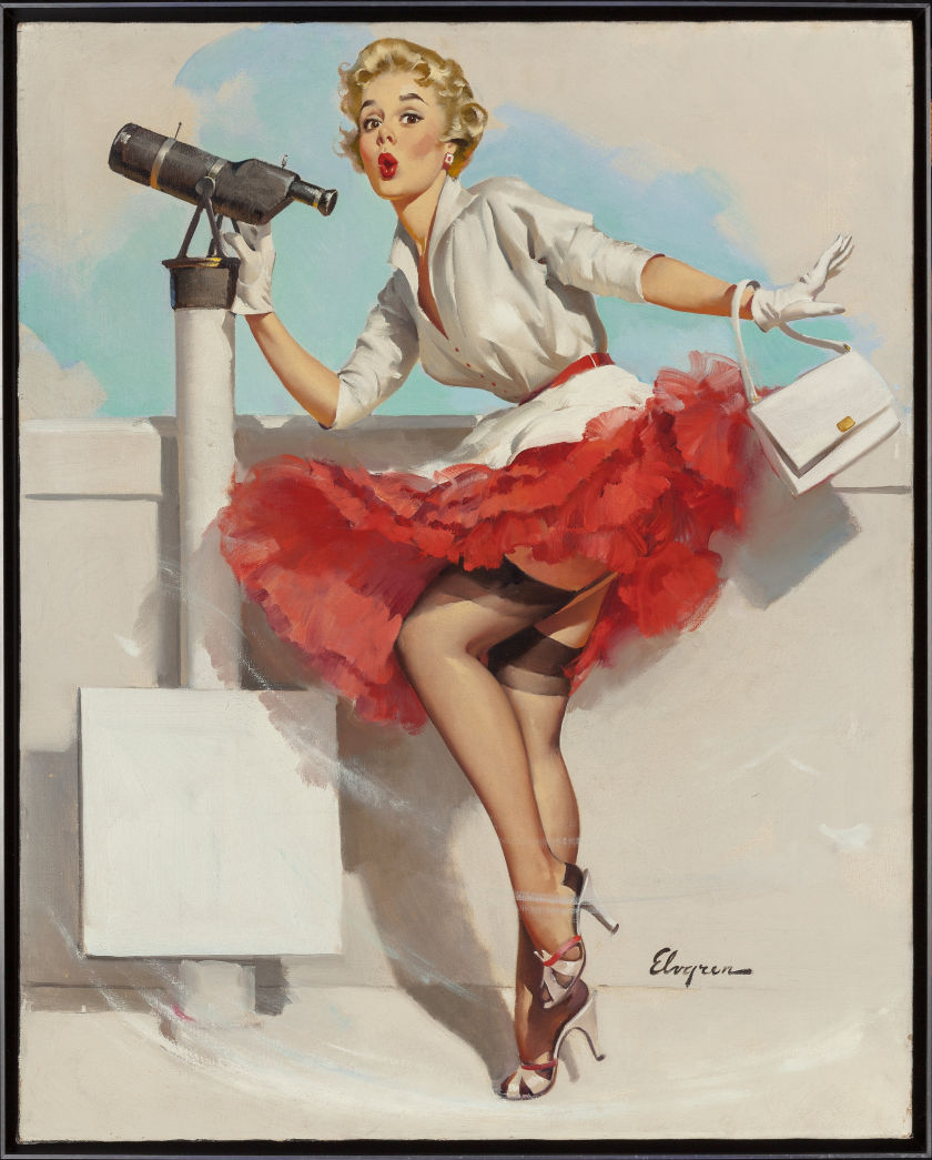 Gil Elvgren  What a View!, Heritage lot #72113