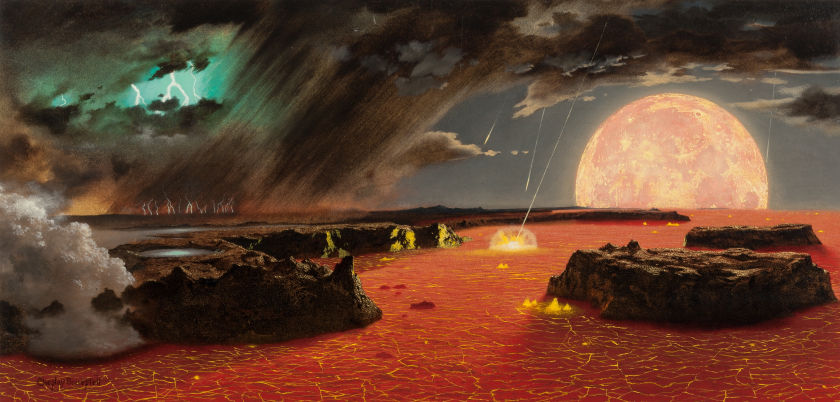 Chesley Bonestell Beginning of the World (The Earth is Born), Heritage lot #72004