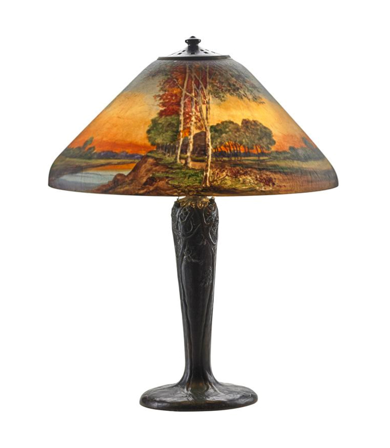"We'll also have this gorgeous Handel 18"" scenic lamp at the show"