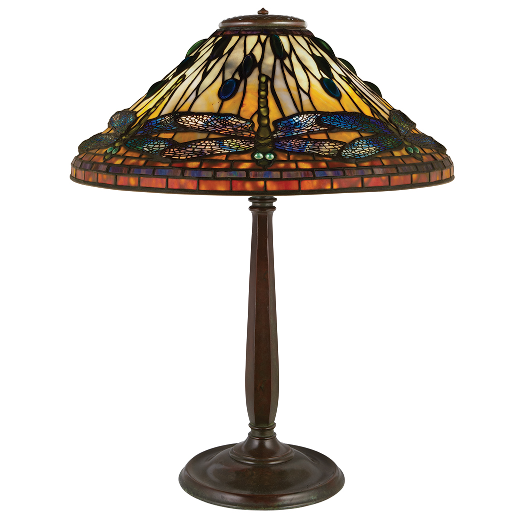 Tiffany Studios Dragonfly table lamp, Doyle lot #533