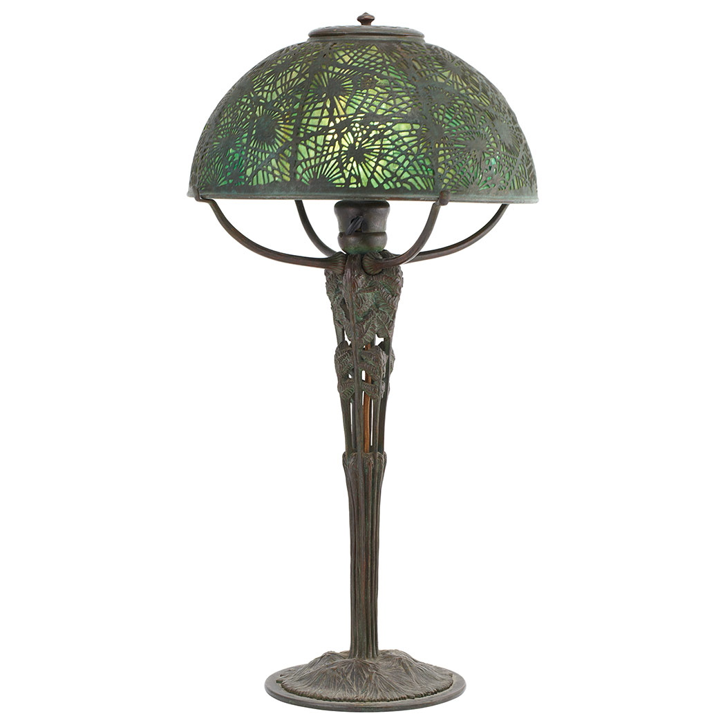 Rare Tiffany Studios Fern table lamp, Doyle lot #525