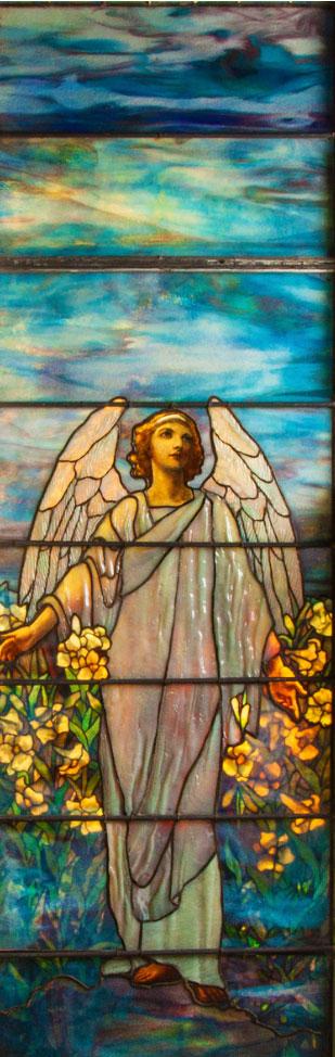 Tiffany Studios Angel of Resurrection window, Cottone lot #504