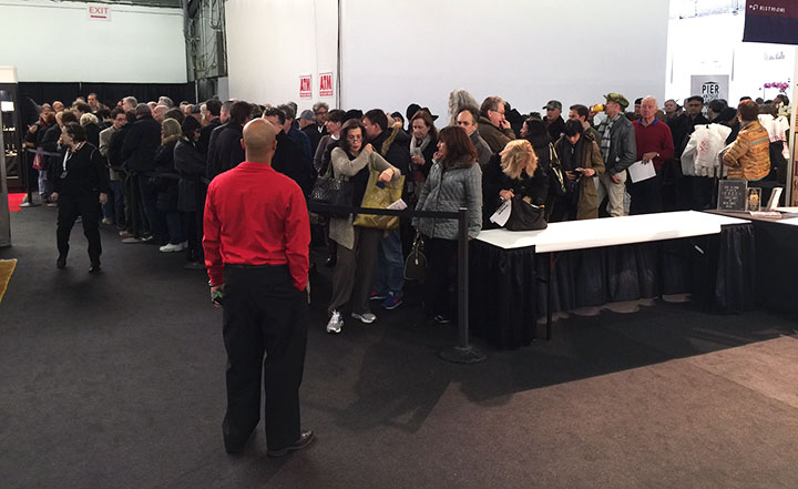 Part of the very large crowd at the Saturday morning opening