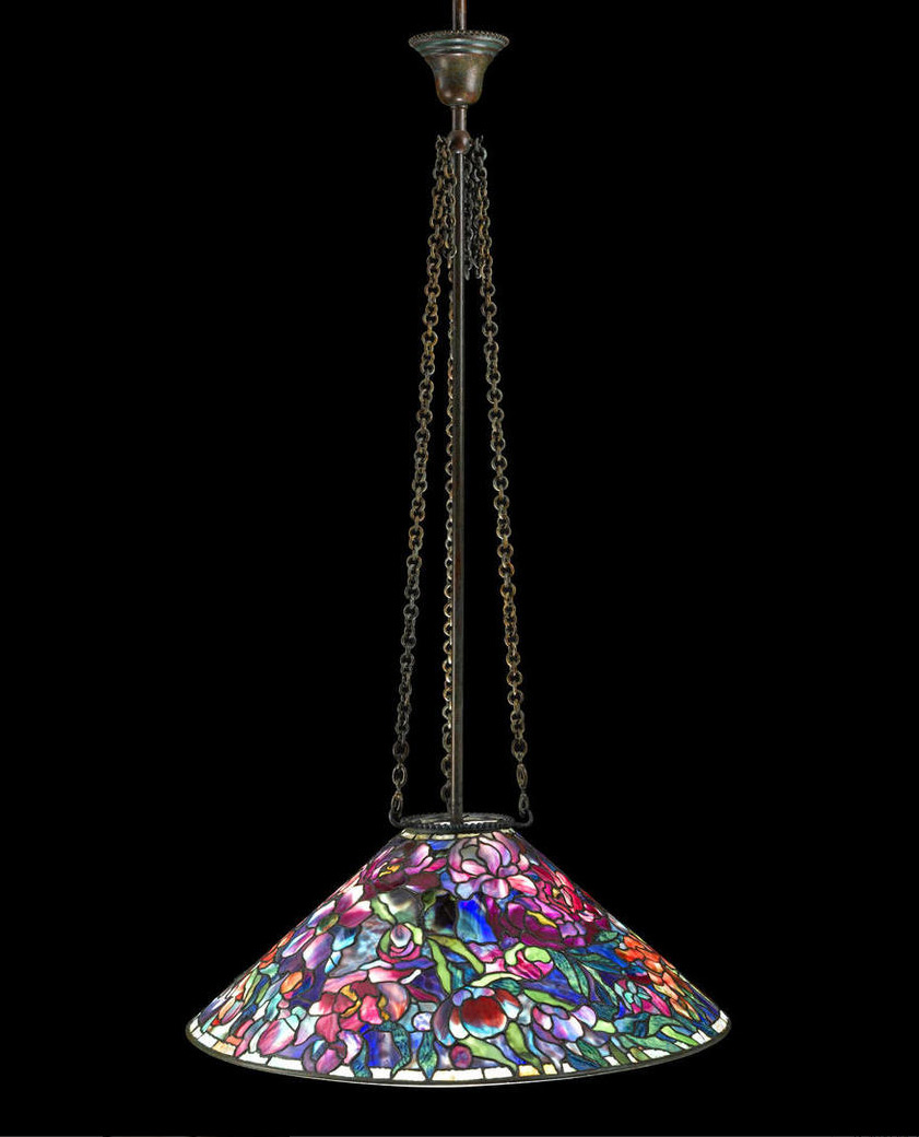 Tiffany Floral Bouquet chandelier, Bonham's lot #52