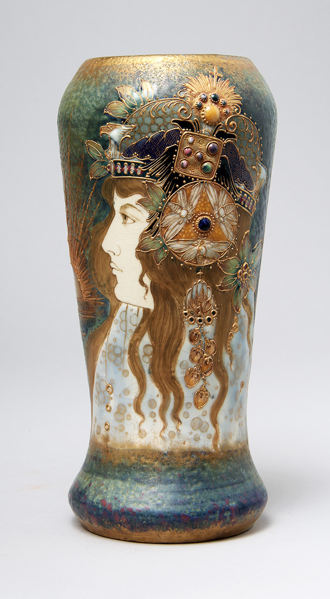 Superb Amphora Allegory Portrait vase