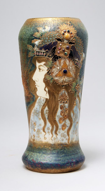 Superb Amphora Allegory Portrait vase