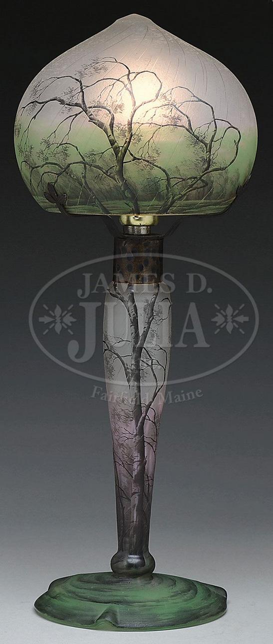 Daum Nancy Rain lamp, Julia's lot #3269