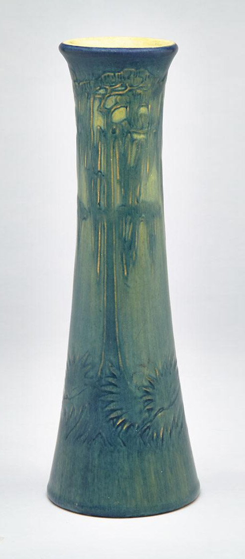 Newcomb College scenic vase, Waddington lot #126