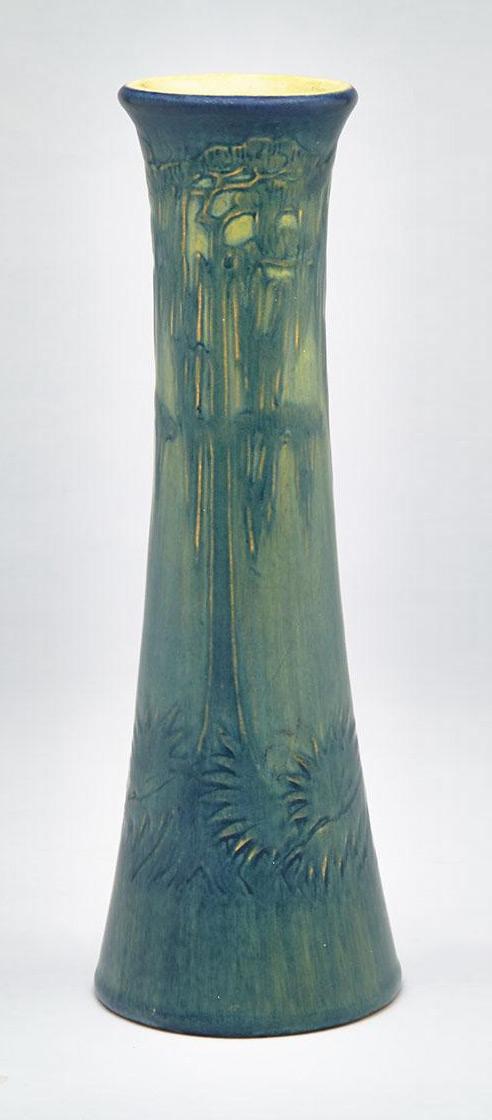 Newcomb College scenic vase, Waddington lot #126