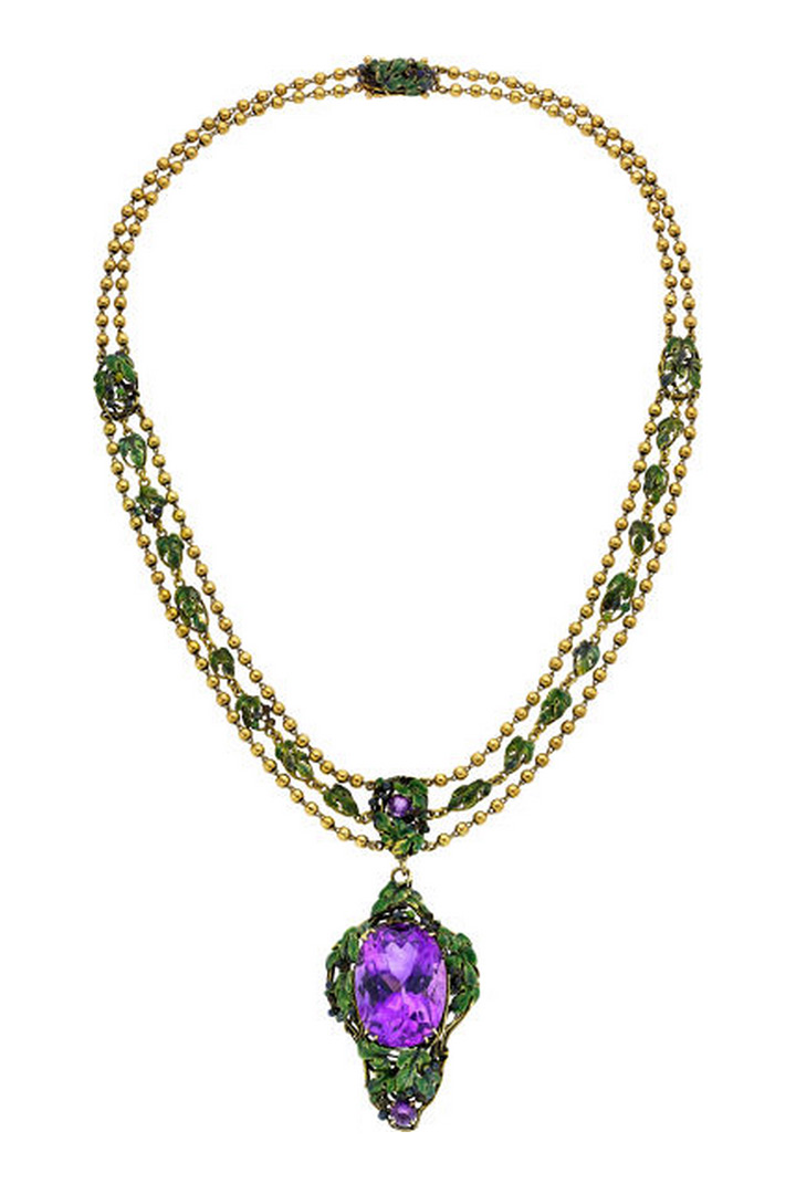 Louis Comfort Tiffany necklace, Heritage lot #54124