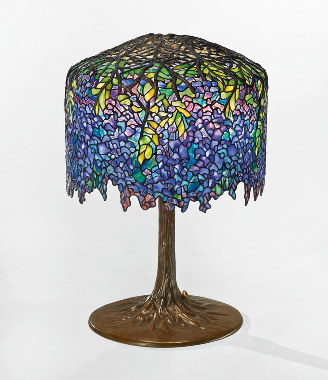 Tiffany Wisteria table lamp, Sotheby's lot #216