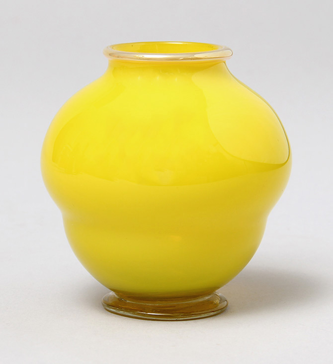 Rare Tiffany Favrile yellow vase