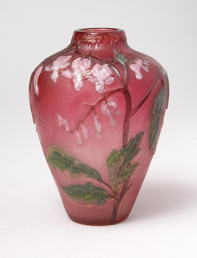 Gorgeous Burgun & Schverer  Bleeding hearts vase
