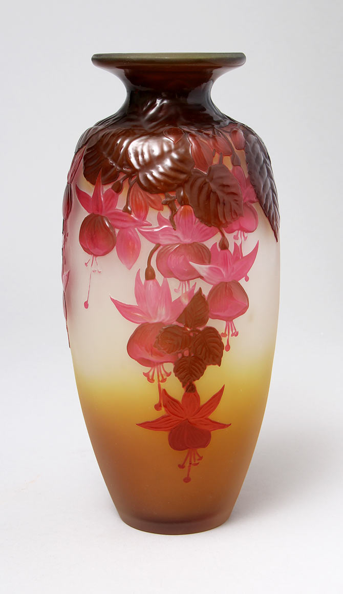 Galle Fuchsia vase, just in