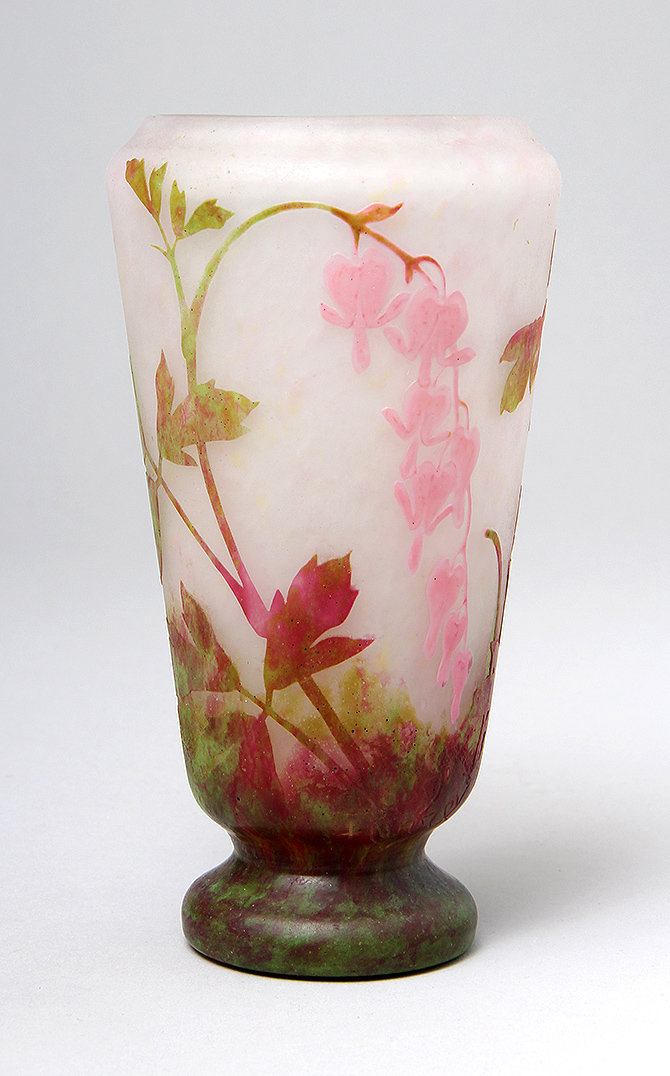 We sold this fine Daum padded and wheel-carved vase at the show
