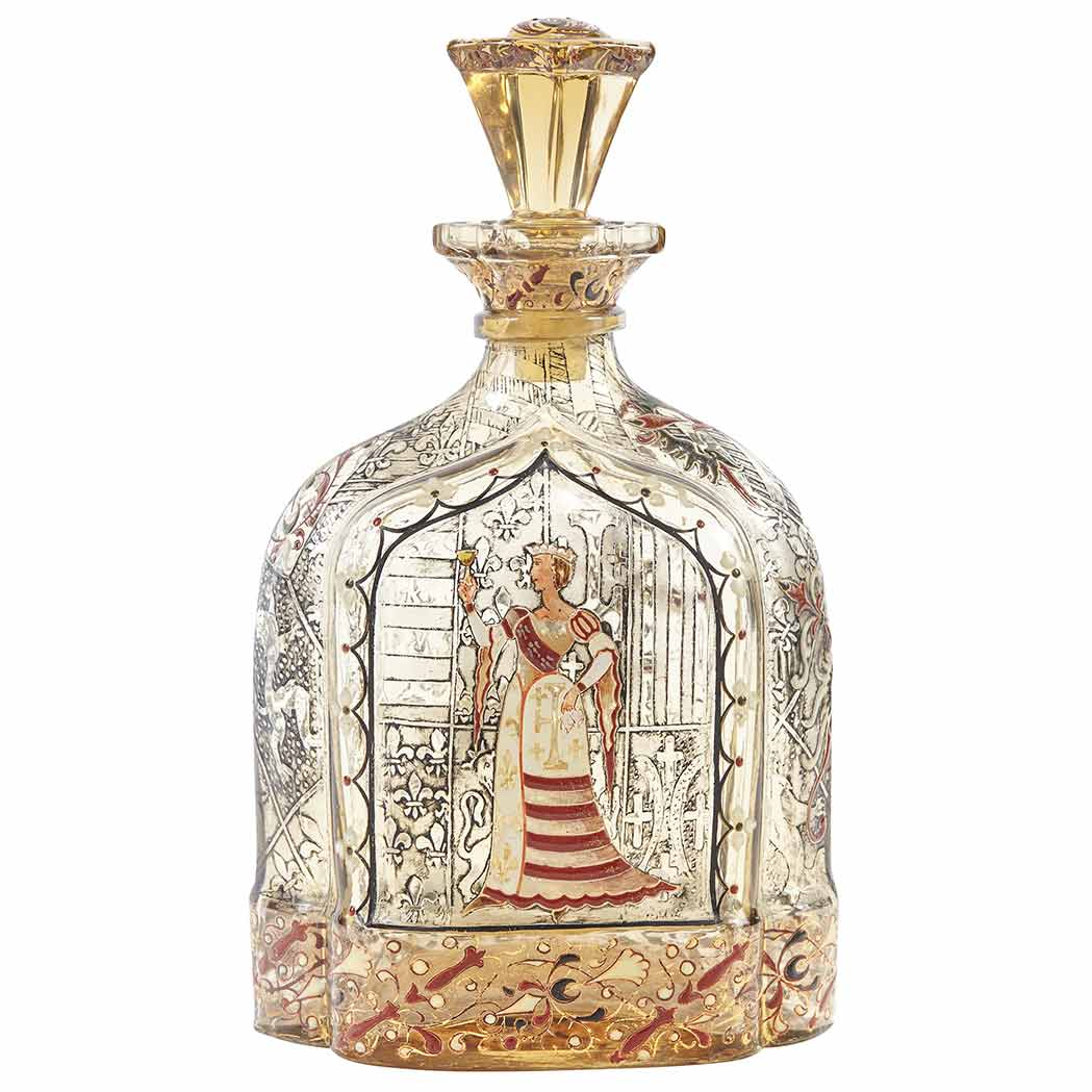 Gallé Crystallerie decanter, Doyle lot #333