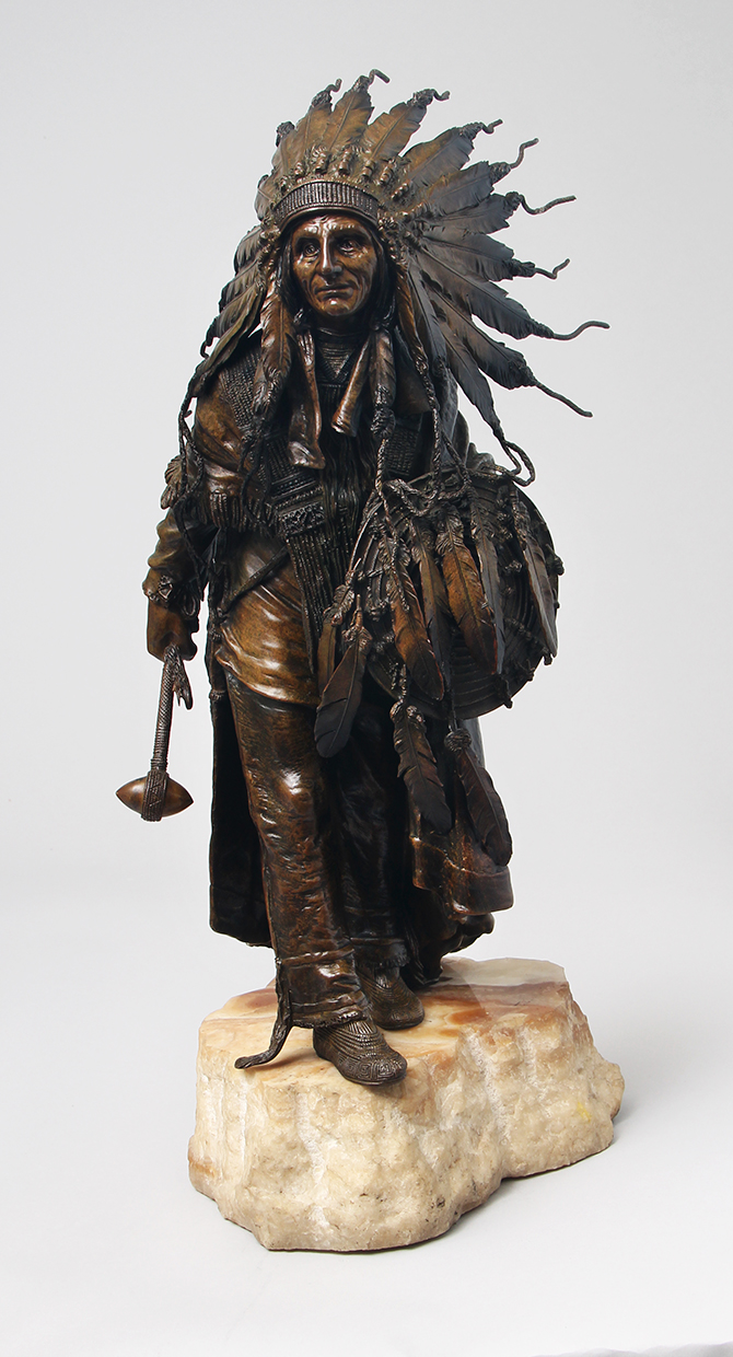 We sold this important Carl Kauba Indian bronze at the show