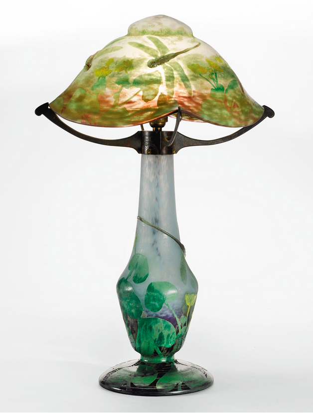 Rare Daum Dragonfly lamp, Sotheby's lot #46