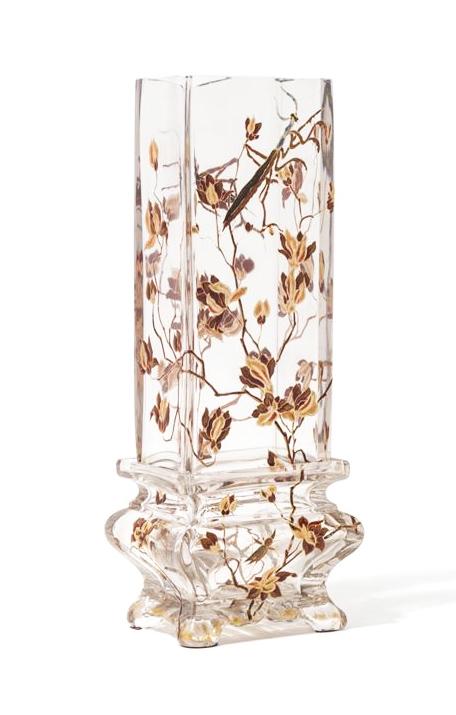 Early Gallé Crystallerie vase, Hindman lot #2