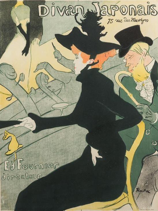 Henri de Toulouse-Lautrec, poster, Divan Japonais, Hindman lot #99