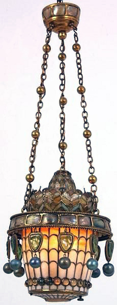 Tiffany Moorish chandelier, Fontaine lot #163