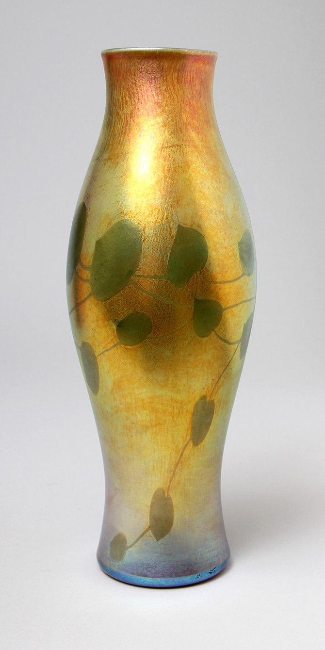 We sold this Tiffany vase at the show