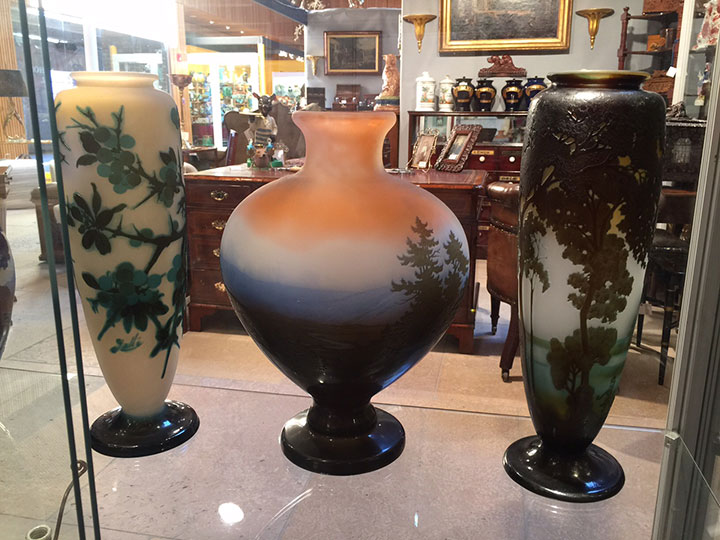 These stupendous Gallé vases are just in