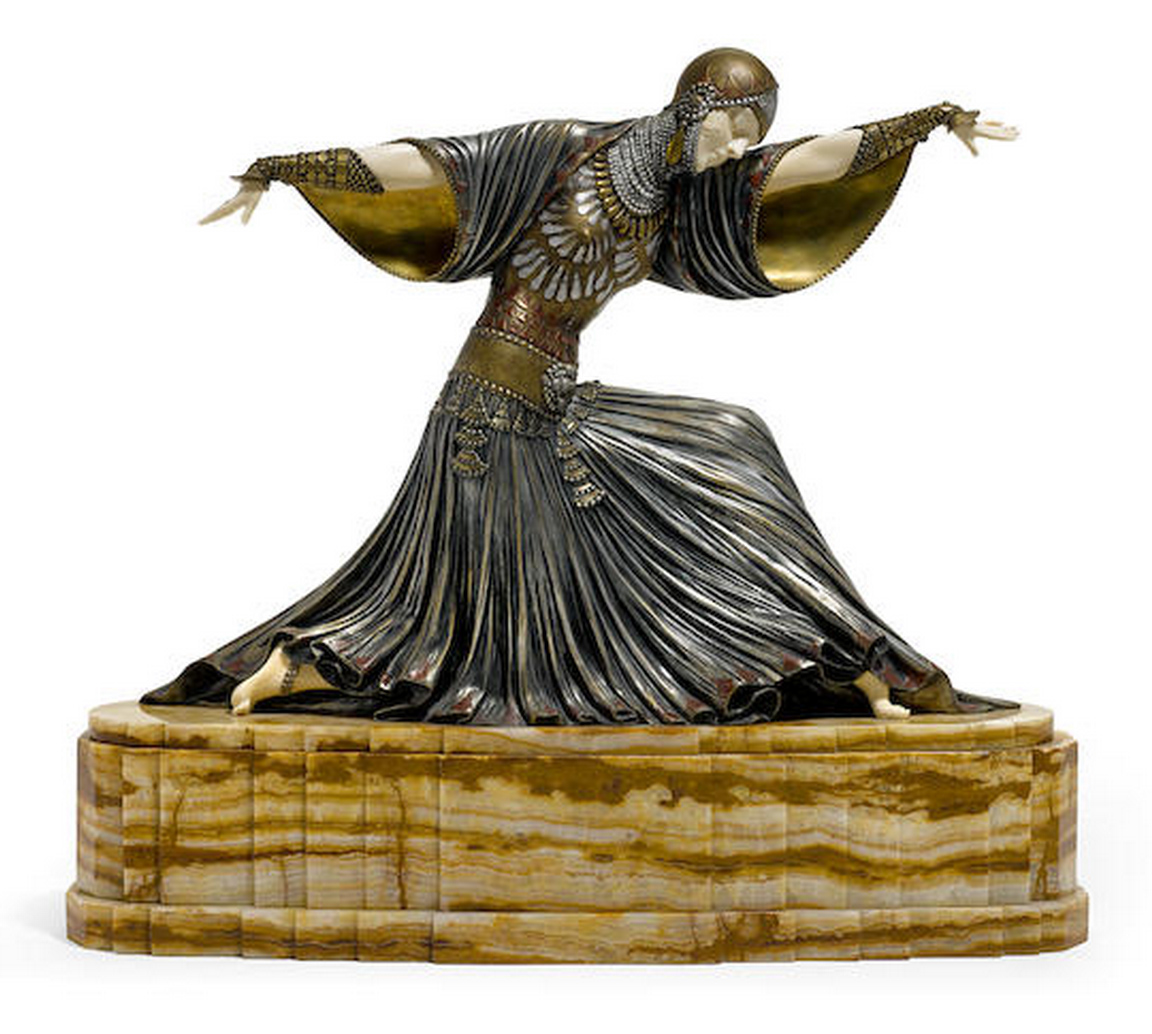 Bronze & ivory figure Thaïs by Demetre Chiparus, Bonham's lot #288