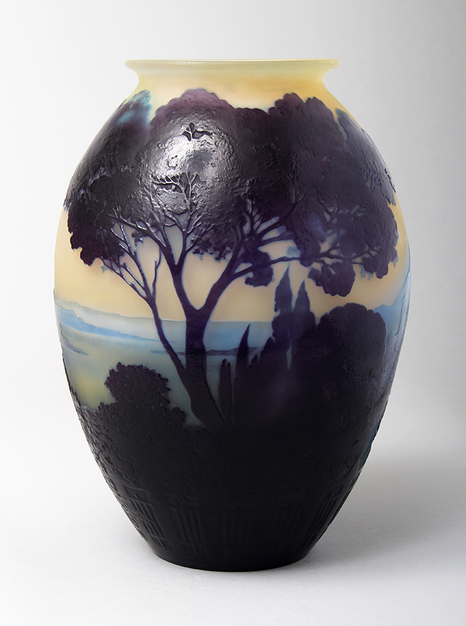 We sold this important Gallé Lake Como vase at the preview party