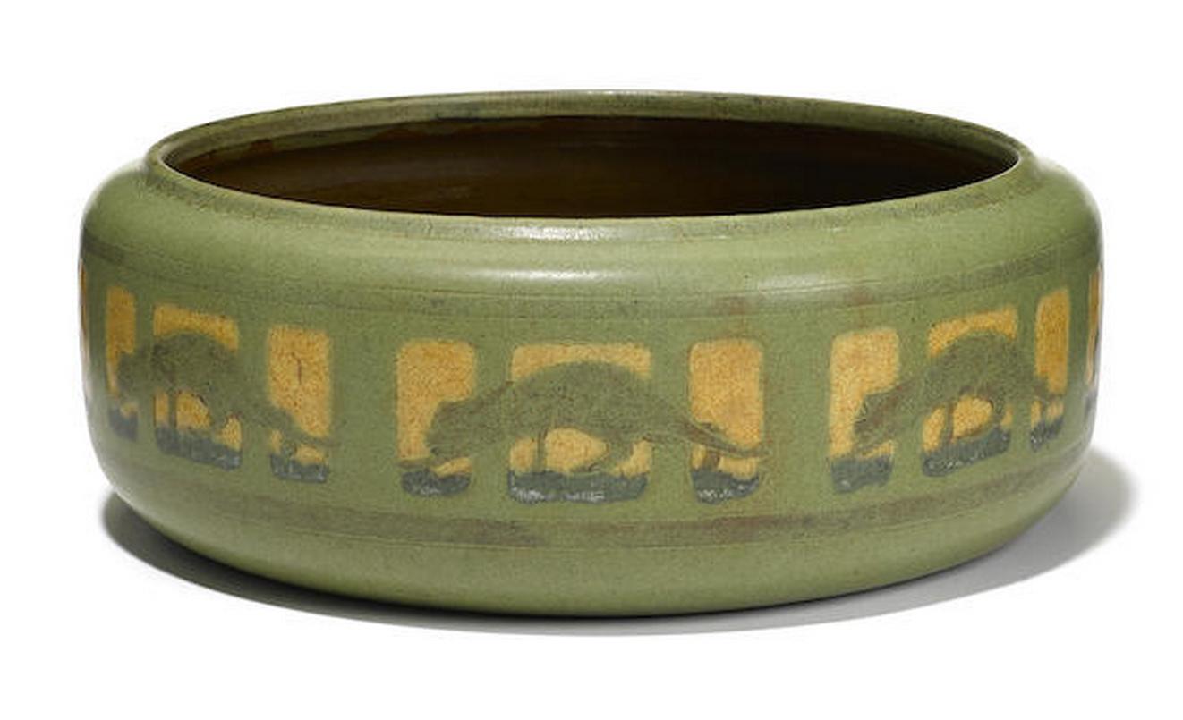 Marblehead Panther bowl, Bonham's lot #214