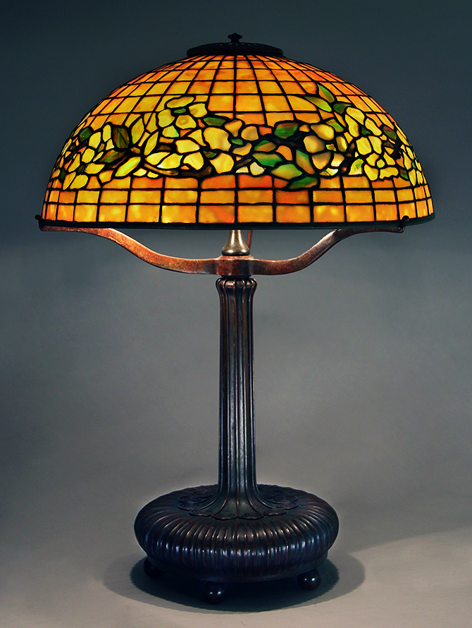 Just one of the many Tiffany Studios lamps we'll have at the show