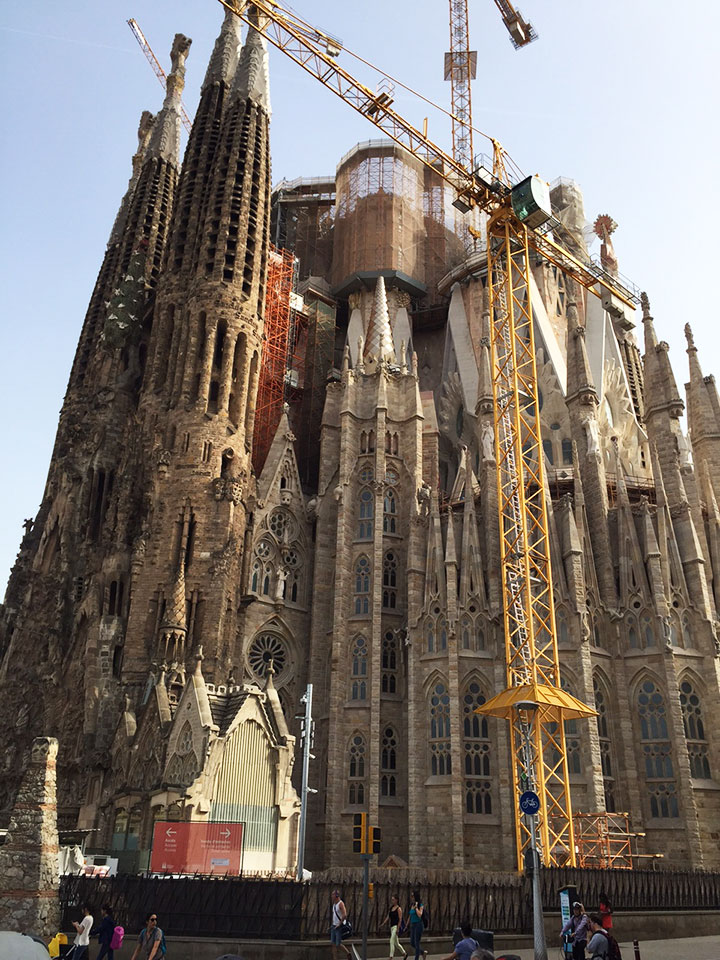 The Sagrada Familia is still under construction