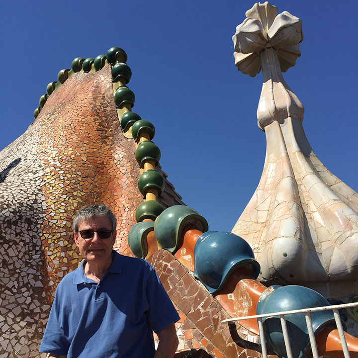 That's me on the roof of the Casa Batlló