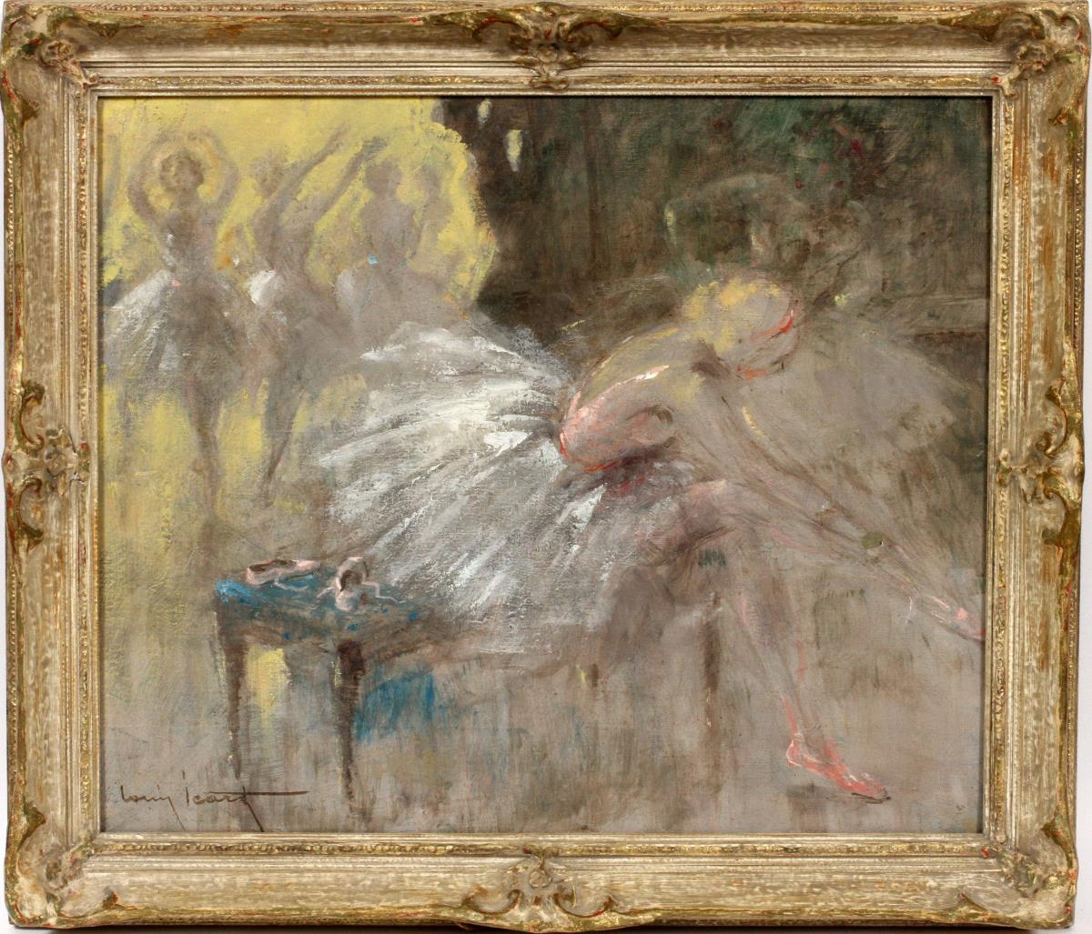 Icart oil painting, untitled, DuMouchelle lot #2053