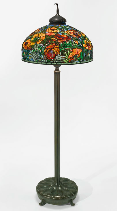 Tiffany Studios Oriental Poppy floor lamp, Sotheby's lot #36
