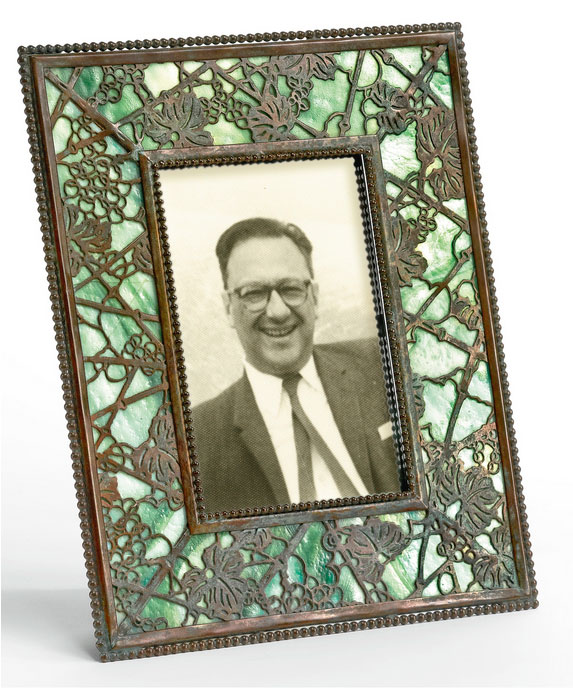 Tiffany Studios Grapevine frame, Sotheby's lot #85