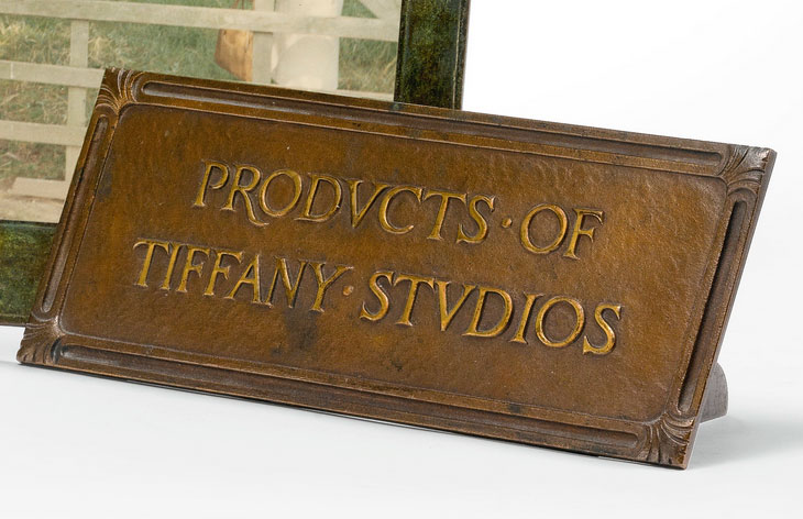 Tiffany Studios advertising sign, Sotheby's lot #87