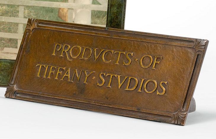 Tiffany Studios advertising sign, Sotheby's lot #87