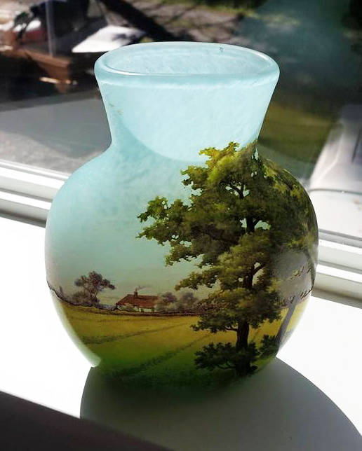 I sold this killer Daum Nancy farm scenic vase recently
