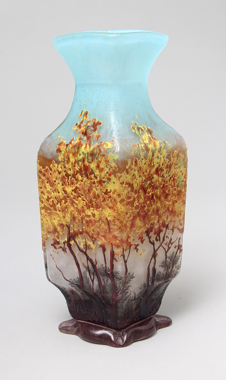 We sold this important Daum Nancy Impressionist vase at the show