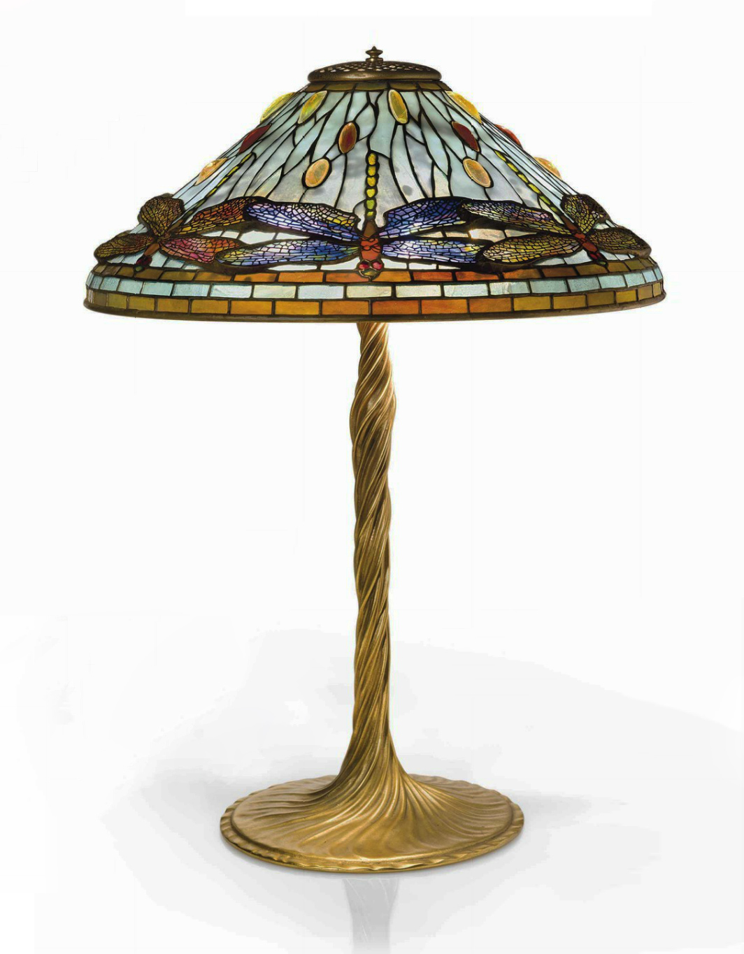 "Tiffany Studios 20"" diameter Dragonfly table lamp, Christie's lot #11"