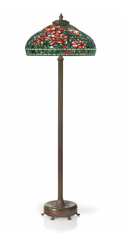 "Tiffany Studios 22"" diameter Peony floor lamp, Christie's lot #14"